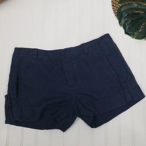 Vince linen cuffed shorts 4
